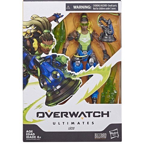 [CÓ HÀNG] Hasbro Overwatch Ultimates 6 Inch Lucio Lúcio Action Figure
