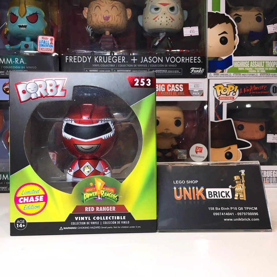 [CÓ SẴN] FUNKO DORBZ Power Rangers 253 Red Ranger Limited Chase Edition