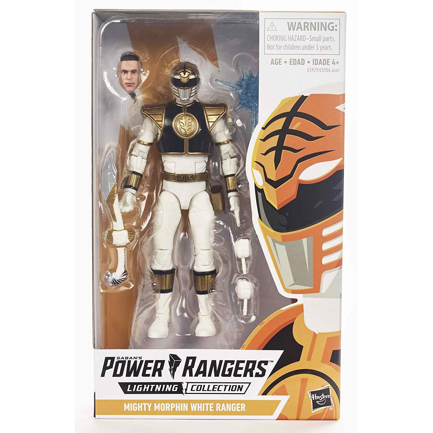 [CÓ SẴN] Hasbro Power Rangers Lightning Collection 6-Inch Mighty Morphin White Ranger Collectible Action Figure