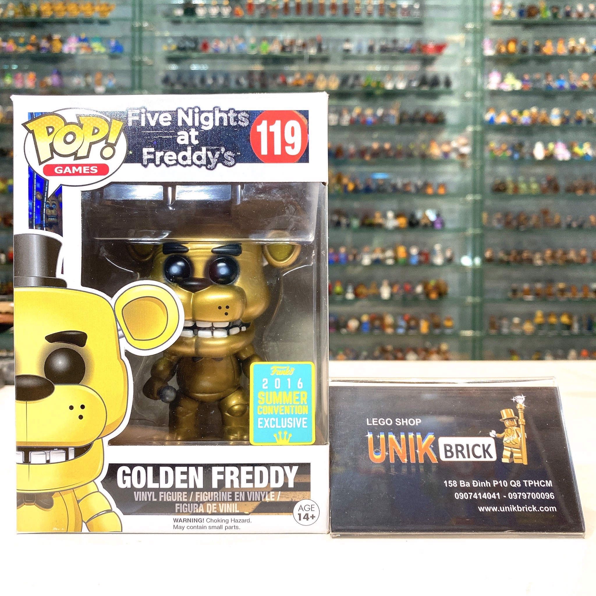 FUNKO POP Five Nights at Freddy's 119 Golden Freddy