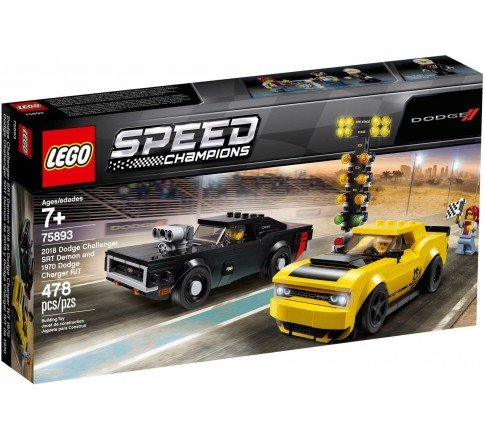 [CÓ SẴN] LEGO 75893 Speed Champions Dodge Challenger SRT Demon And 1970 Dodge Charger R/T