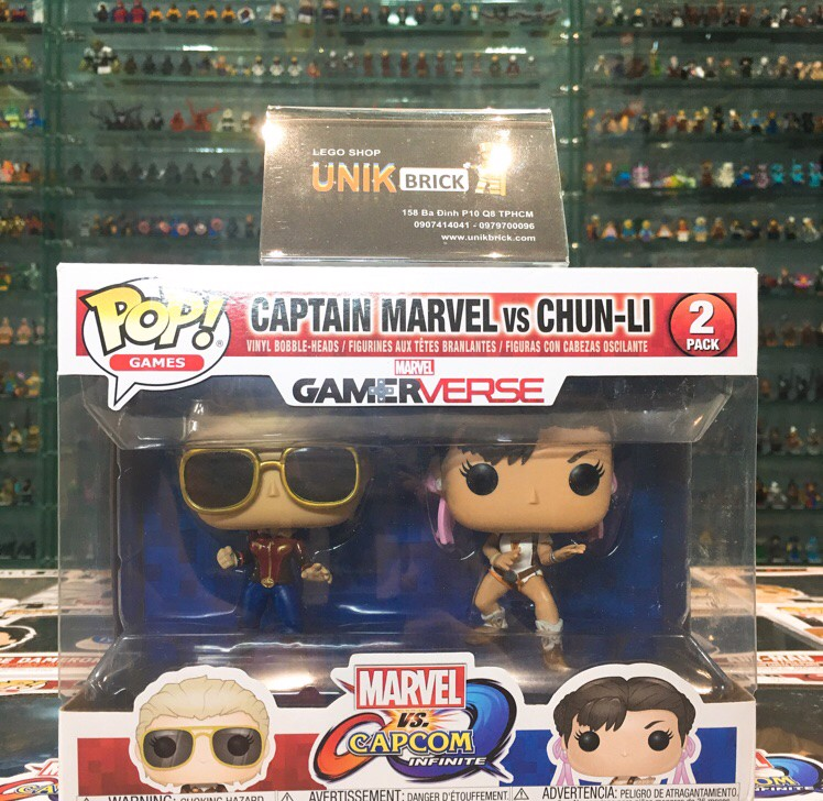 FUNKO POP 2 pack Captain Marvel vs Chun Li