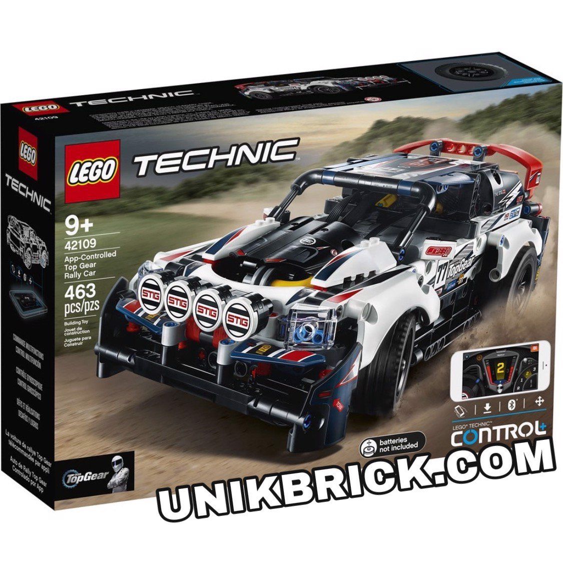 [CÓ HÀNG] LEGO Technic 42109 App Controlled Top Gear Rally Car