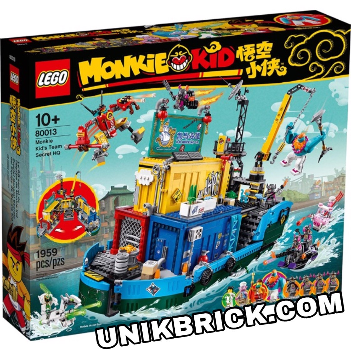 [HÀNG ĐẶT/ ORDER] LEGO 80013 Monkie Kid's Team Secret HQ