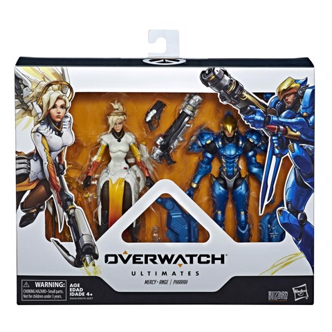 [CÓ HÀNG] Hasbro Overwatch Ultimates Mercy and Pharah 6 Inch Action Figure