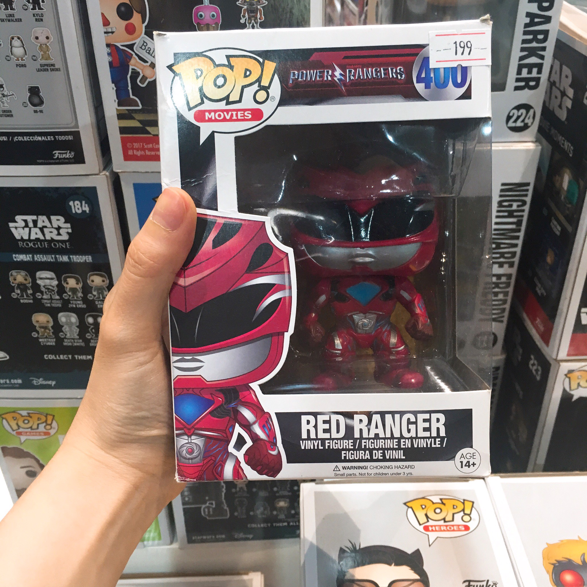 FUNKO POP Power Rangers 400 Red Ranger