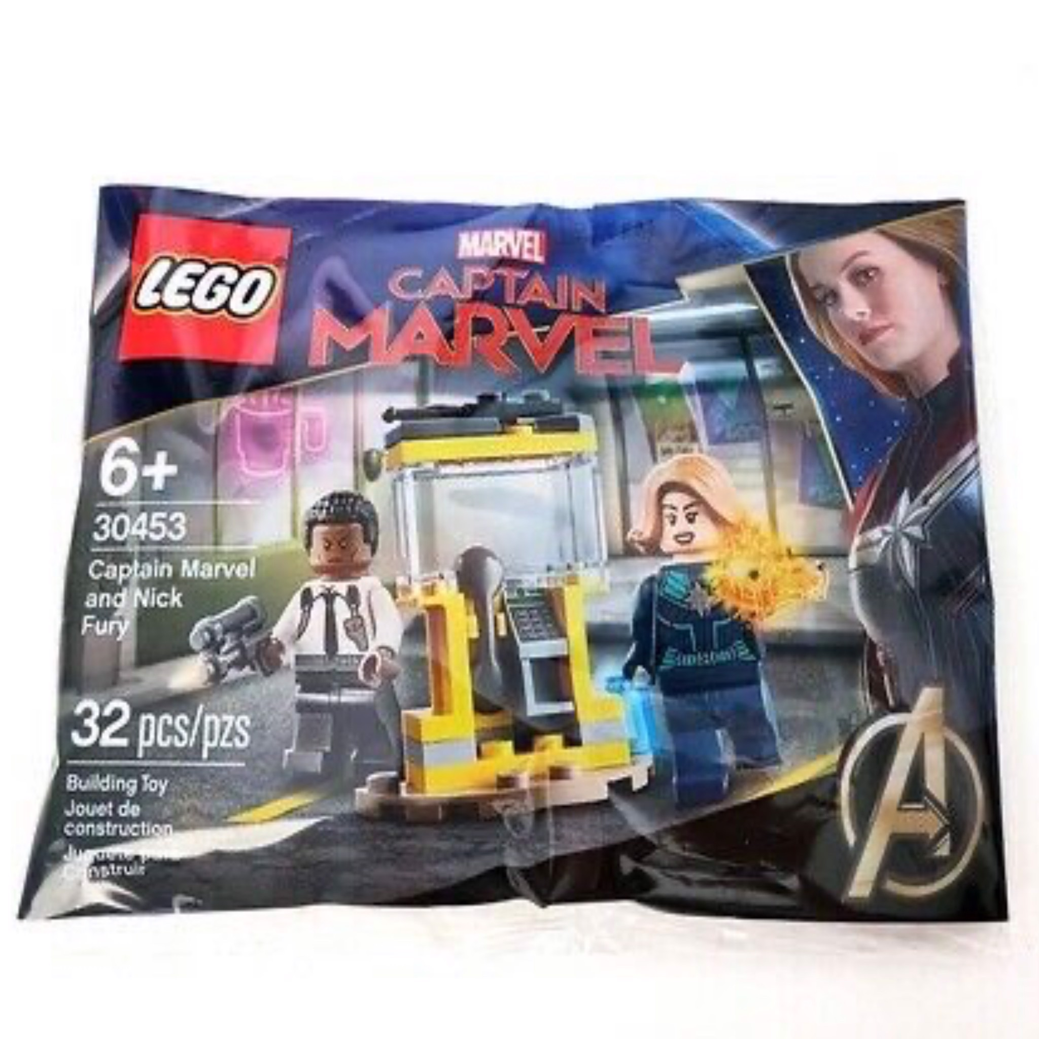 [CÓ HÀNG] LEGO 30453 Captain Marvel and Nick Fury Polybag