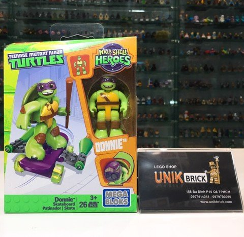 MEGA BLOKS Ninja Turtles Donnie Skateboard