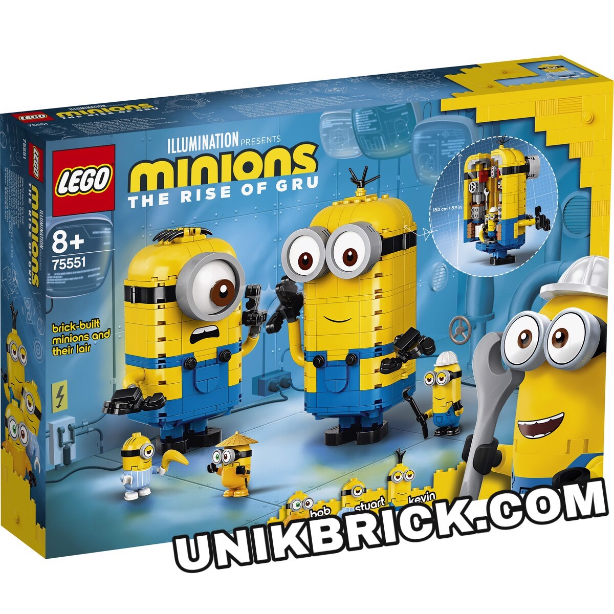 [CÓ HÀNG] LEGO 75551 Minions Brick built Minions and their Lair