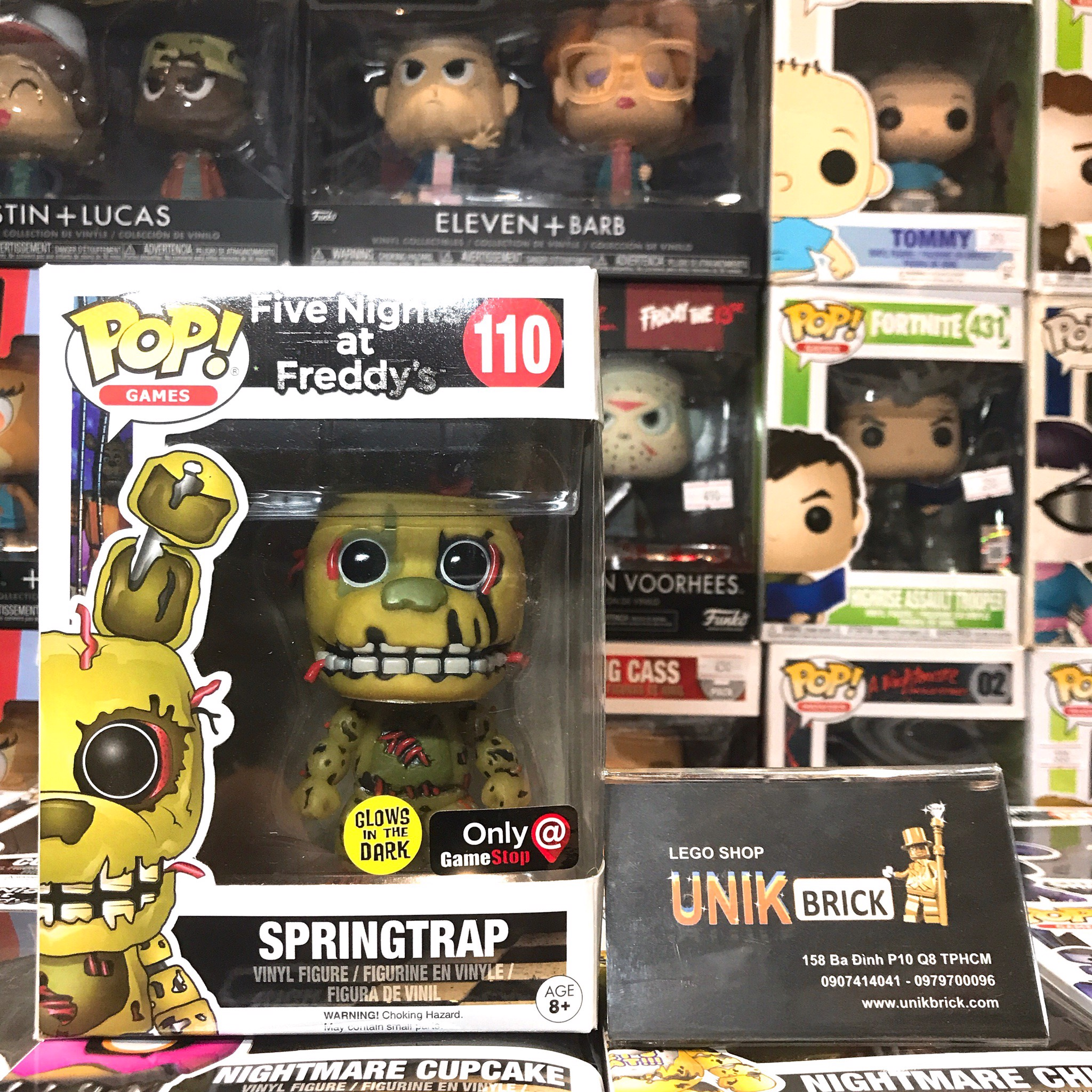 FUNKO POP Five Nights at Freddy's 110 Springtrap Game Stop Glows