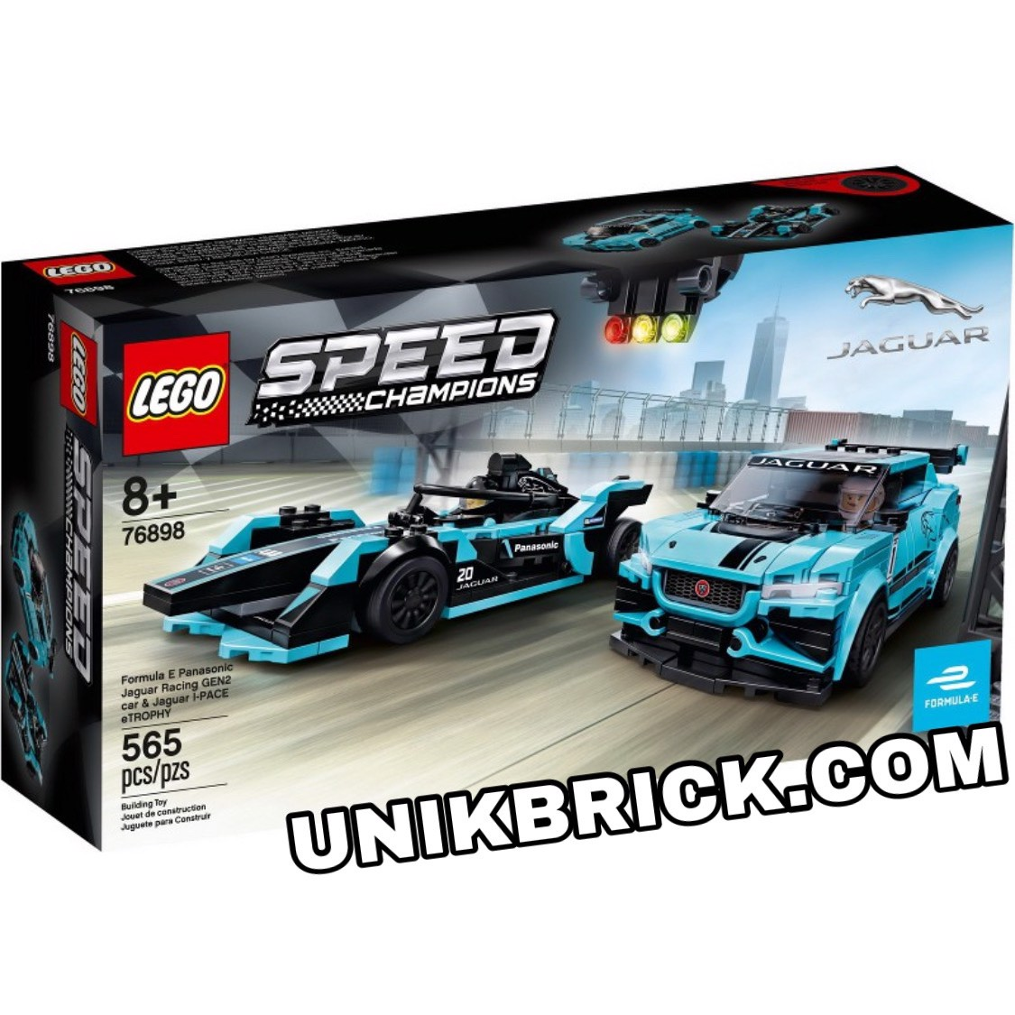 [CÓ HÀNG] LEGO Speed Champions 76898 Formula E Panasonic Jaguar Racing GEN2 car & Jaguar I-PACE eTROPHY