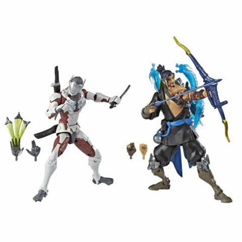 [CÓ HÀNG] Hasbro Overwatch Ultimates Genji and Hanzo 6 Inch Action Figure