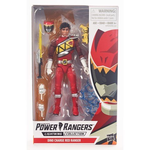 [CÓ SẴN] Hasbro Power Rangers Lightning Collection 6-Inch Dino Charge Red Ranger Collectible Action Figure