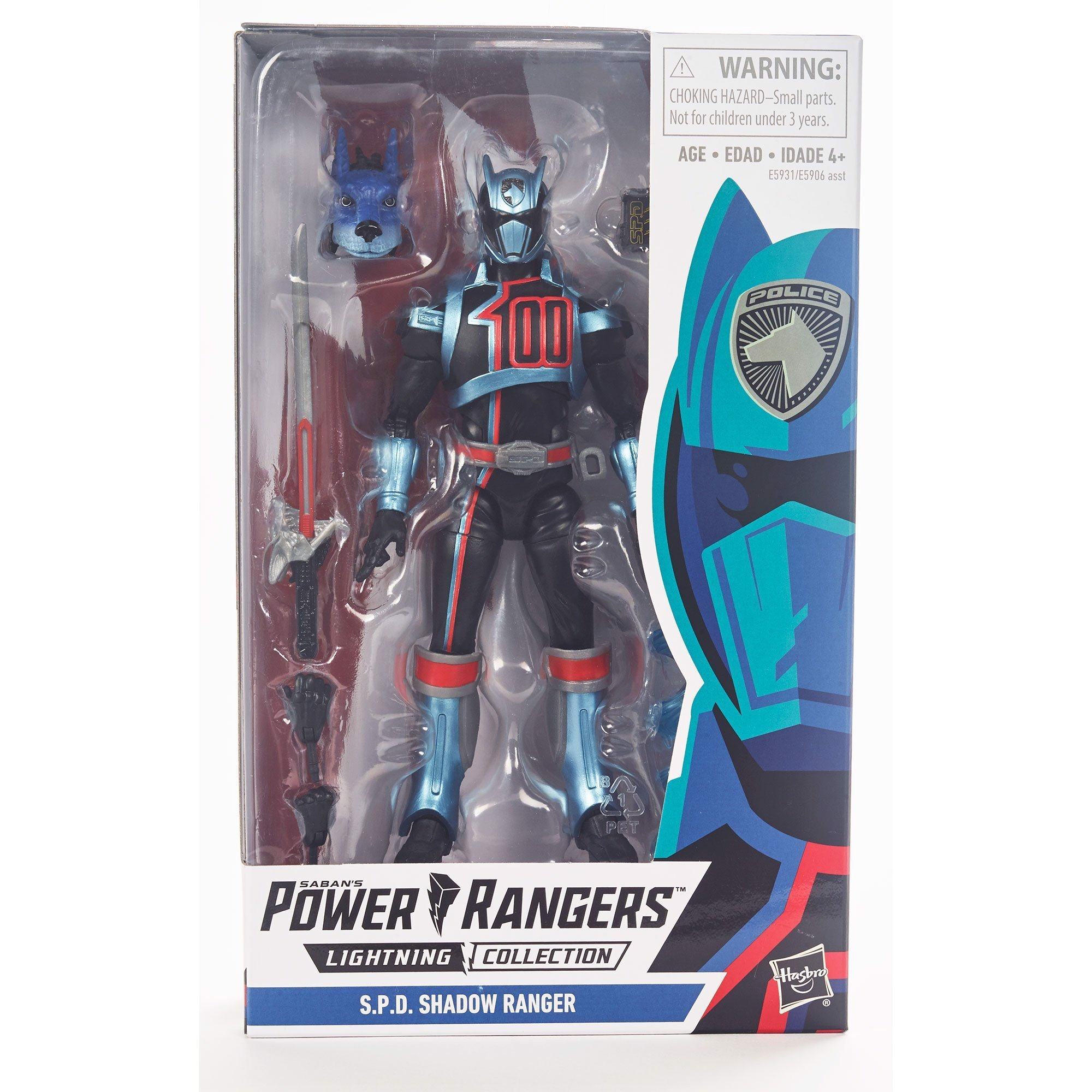 [ORDER LIÊN HỆ 0907414041] Hasbro Power Rangers Lightning Collection 6-Inch S.P.D. Shadow Ranger Collectible Action Figure