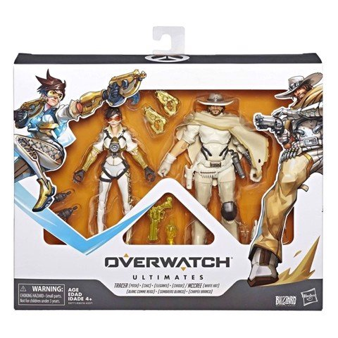 [CÓ HÀNG] Hasbro Overwatch Ultimates Tracer and McCree 6 Inch Action Figure