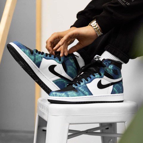 Jordan High Tie Dye Retro