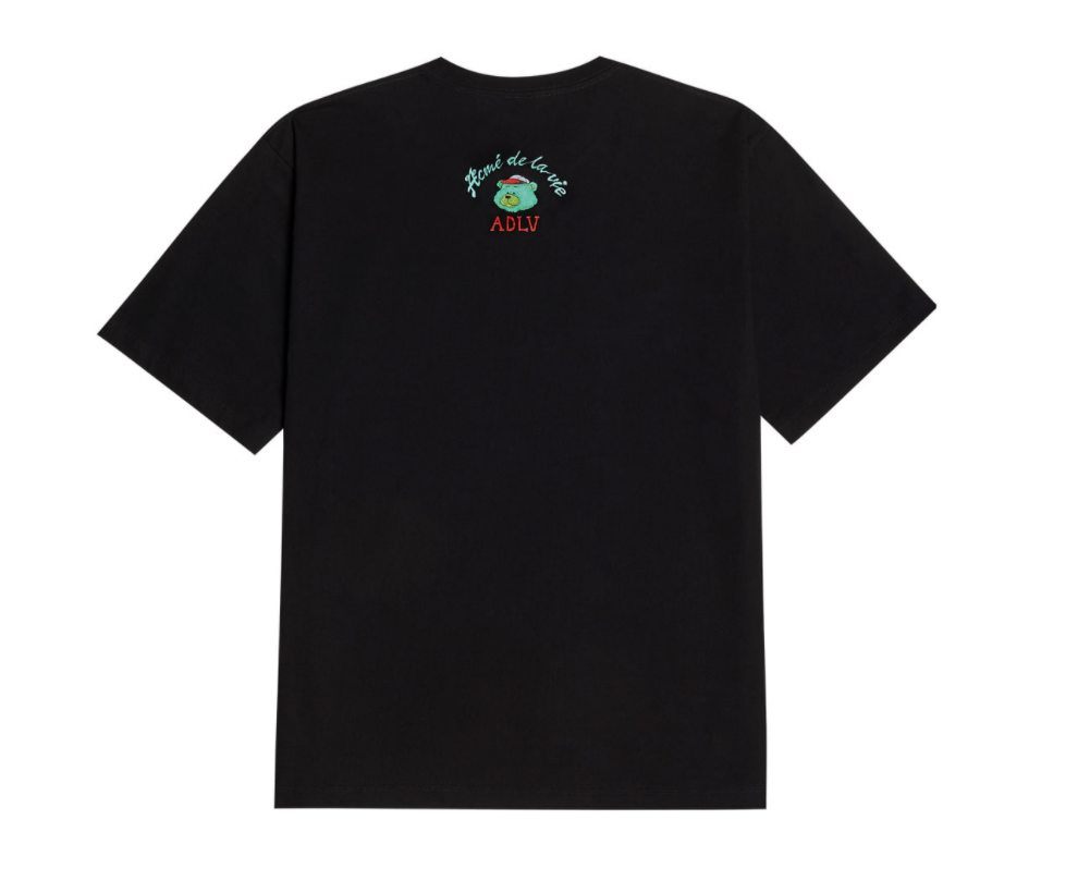 Áo thun - ADLV - Acmé de la vie - ADLV GREEN BEAR SHORT SLEEVE T-SHIRT BLACK