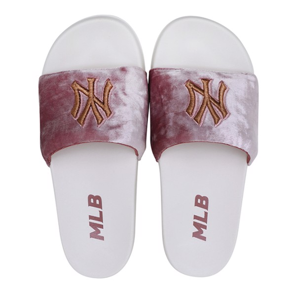 Dép MLB SUPER CARPET - NY Yankees - White / Pink