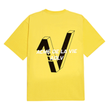 Áo thun - Acmé de la vie - ADLV V SYMBOL LOGO SHORT SLEEVE T-SHIRT LIGHT YELLOW