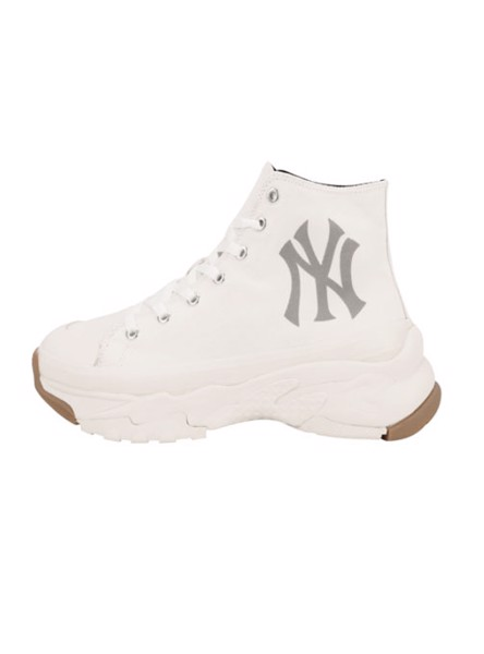 Giày MLB - BIG BALL CHUNKY High White - NY Yankees - 32SHU1111-50I