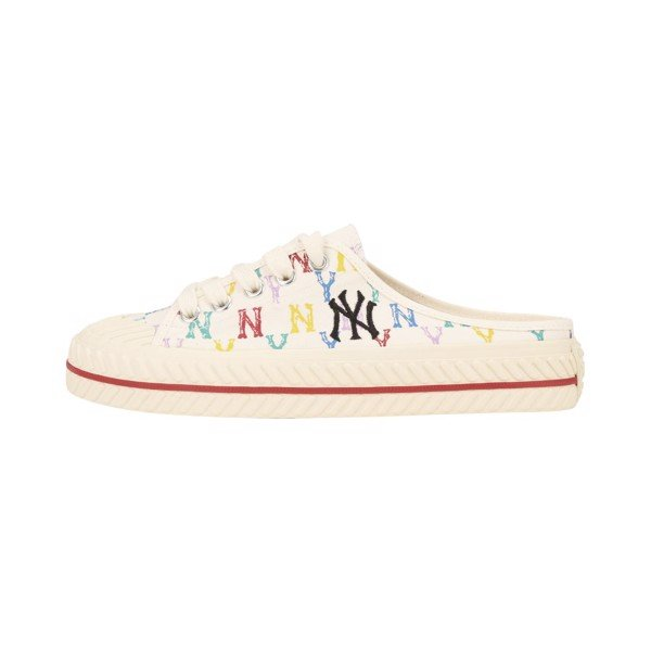 GIÀY MLB - Playball Origin Mule -  Monogram White