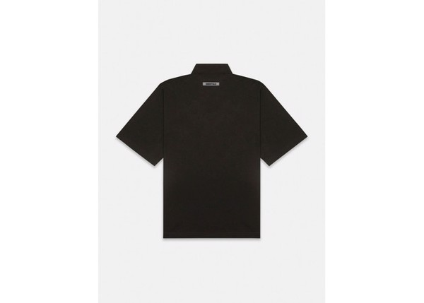 Áo Polo - Fear Of God Essentials - 3D Silicon Applique Boxy Polo - Black