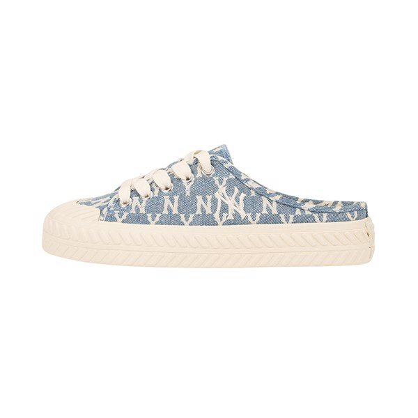GIÀY MLB - Playball Origin Mule -  Monogram Denim White