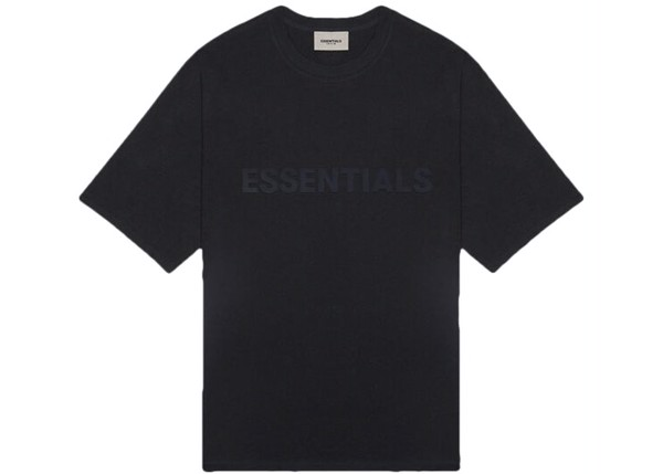 Áo thun - Fear Of God Essentials - 3D Silicon Applique Boxy T-Shirt - Black
