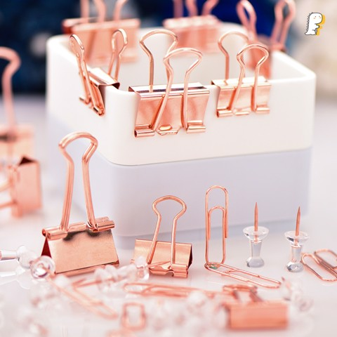 Set kẹp bướm Rose Gold Deli