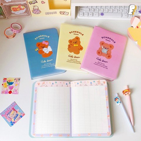 Sổ Schedule Book Cake bear
