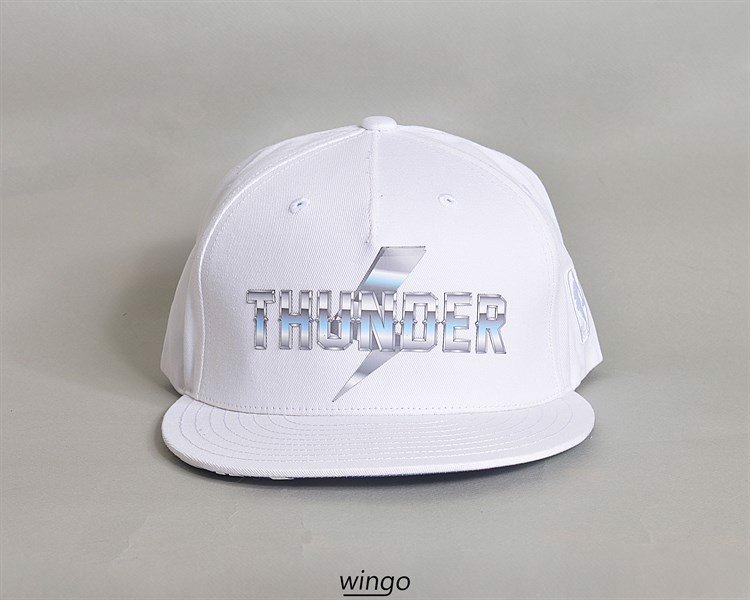 NBA Snapback Thunder White
