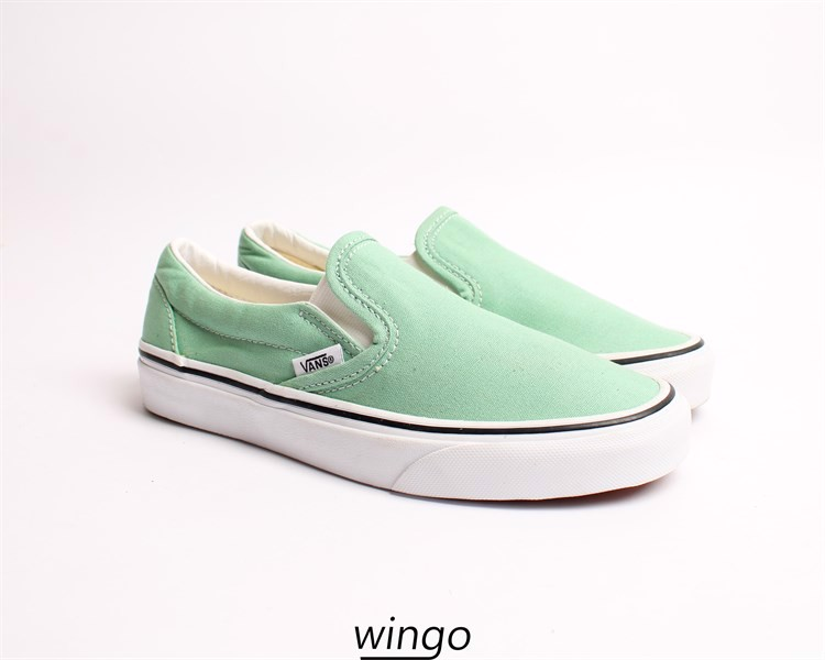 Vans Slip On Light Green / True White