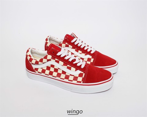 Vans Old Skool Primary Checker Red/White