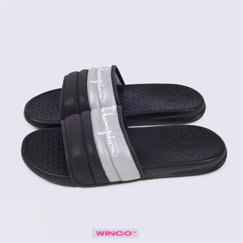 Champion Reflective Padded Sandal (Black / Grey)