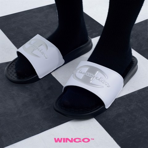 Champion Solid C Super Slide (Black / White)