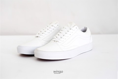 Vans Old Skool All White Leather