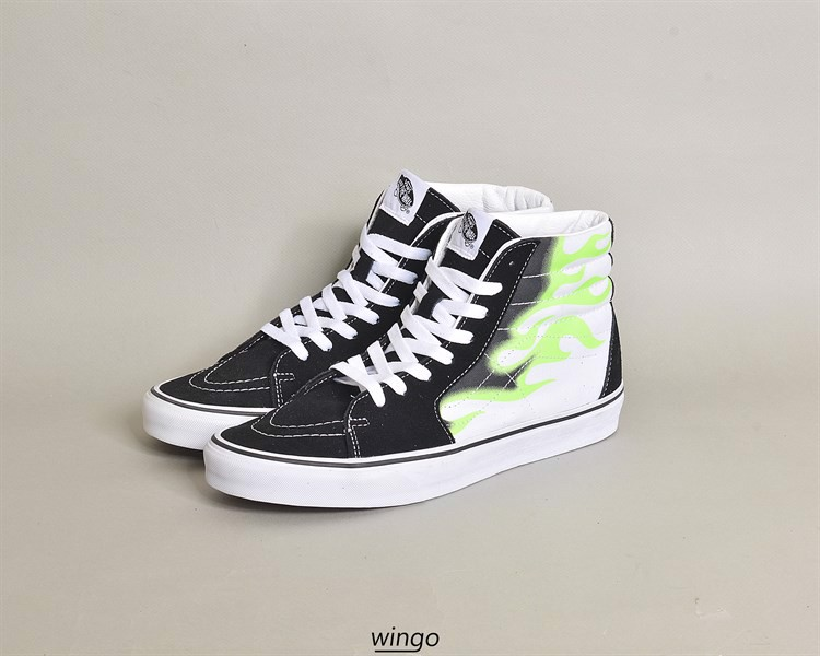 Vans Sk8-Hi Green Flame Black / True White