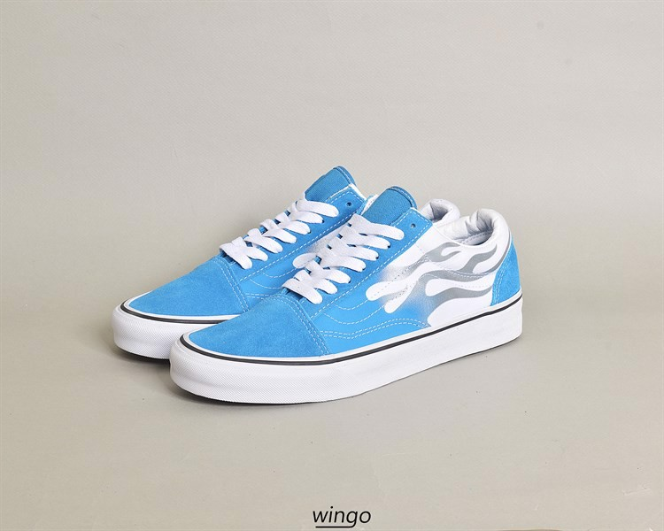 Vans Old Skool Flame Mediterranian Blue / True White