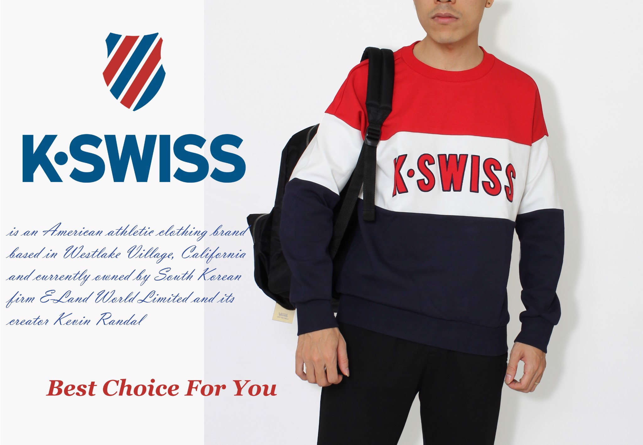 Kswiss Sweater Red White