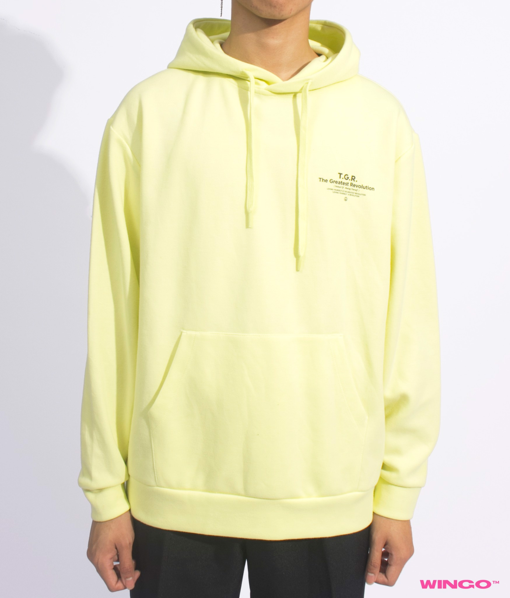 Top Ten Double Knit Graphic Hoodie Custard