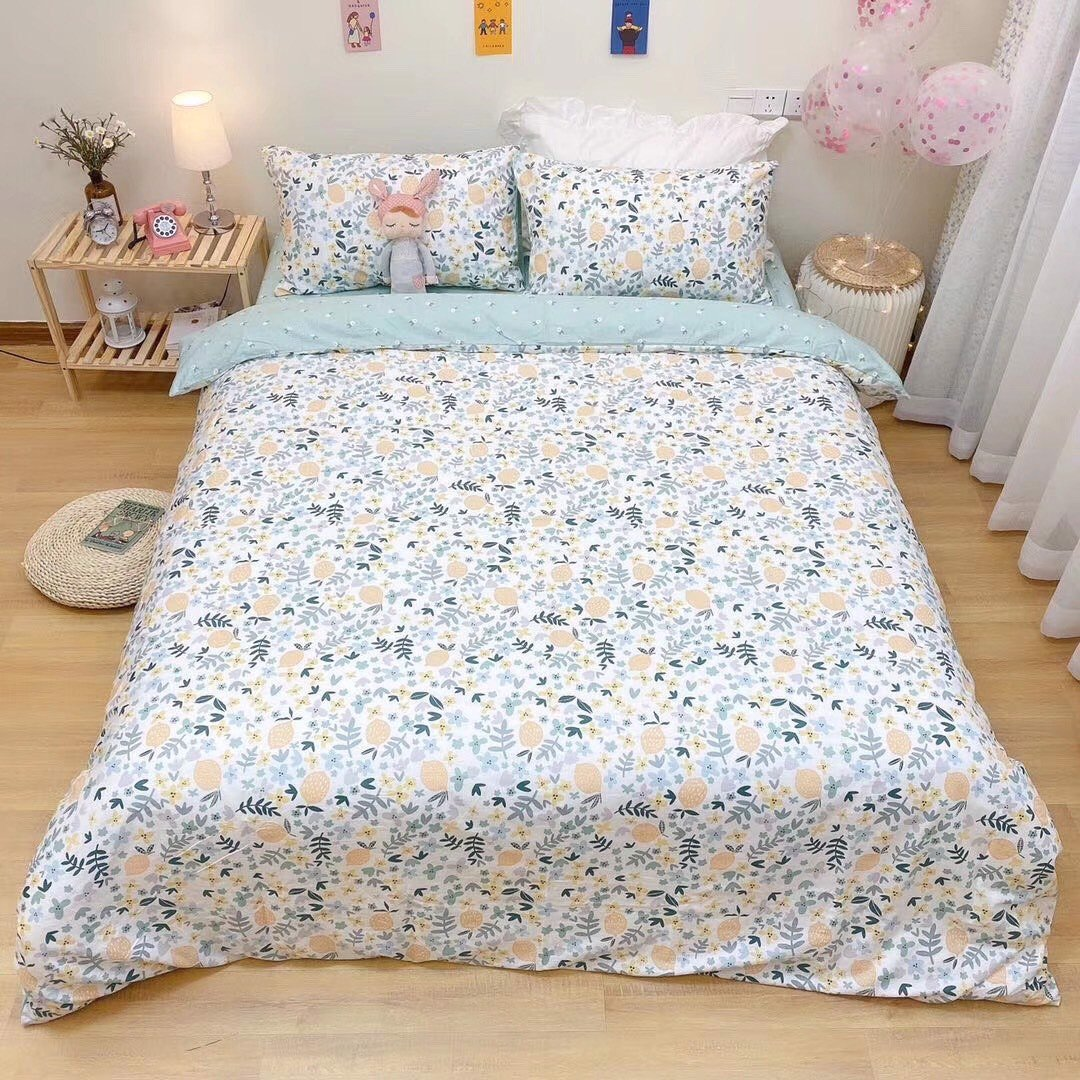 SET CHĂN GA GỐI COTTON VITAGE 17