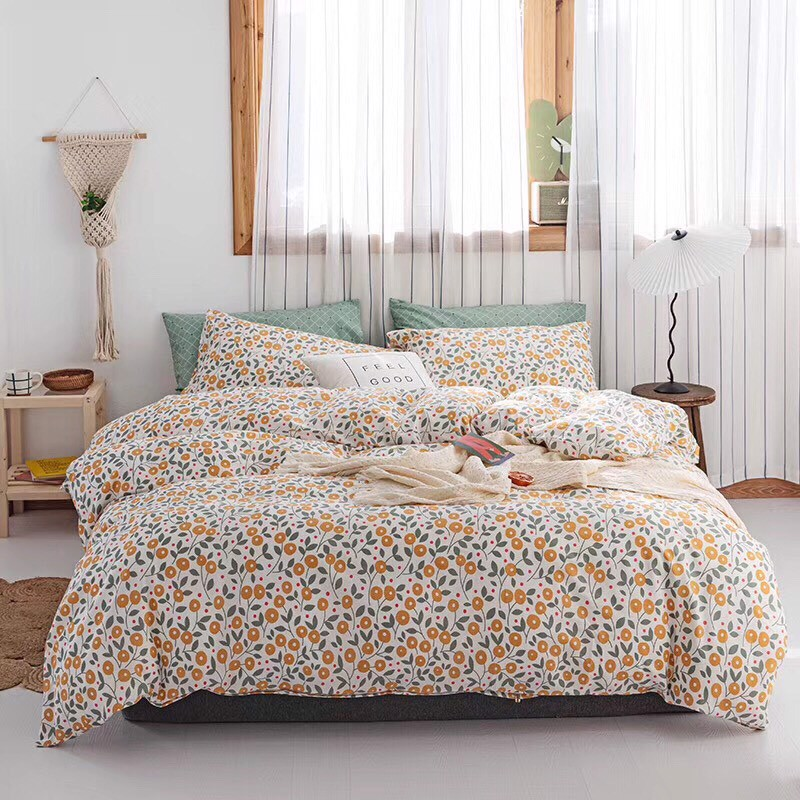SET CHĂN GA GỐI COTTON VITAGE 23