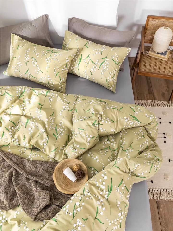 SET CHĂN GA GỐI COTTON VINTAGE 10