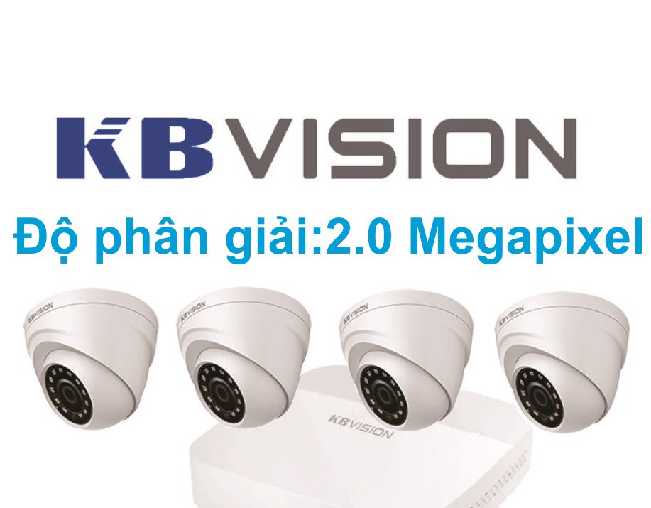 BỘ 4 CAMERA KBVISION 2.0 MPX