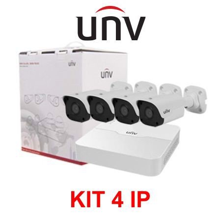 BỘ KIT UNV 4 CAMERA IP POE