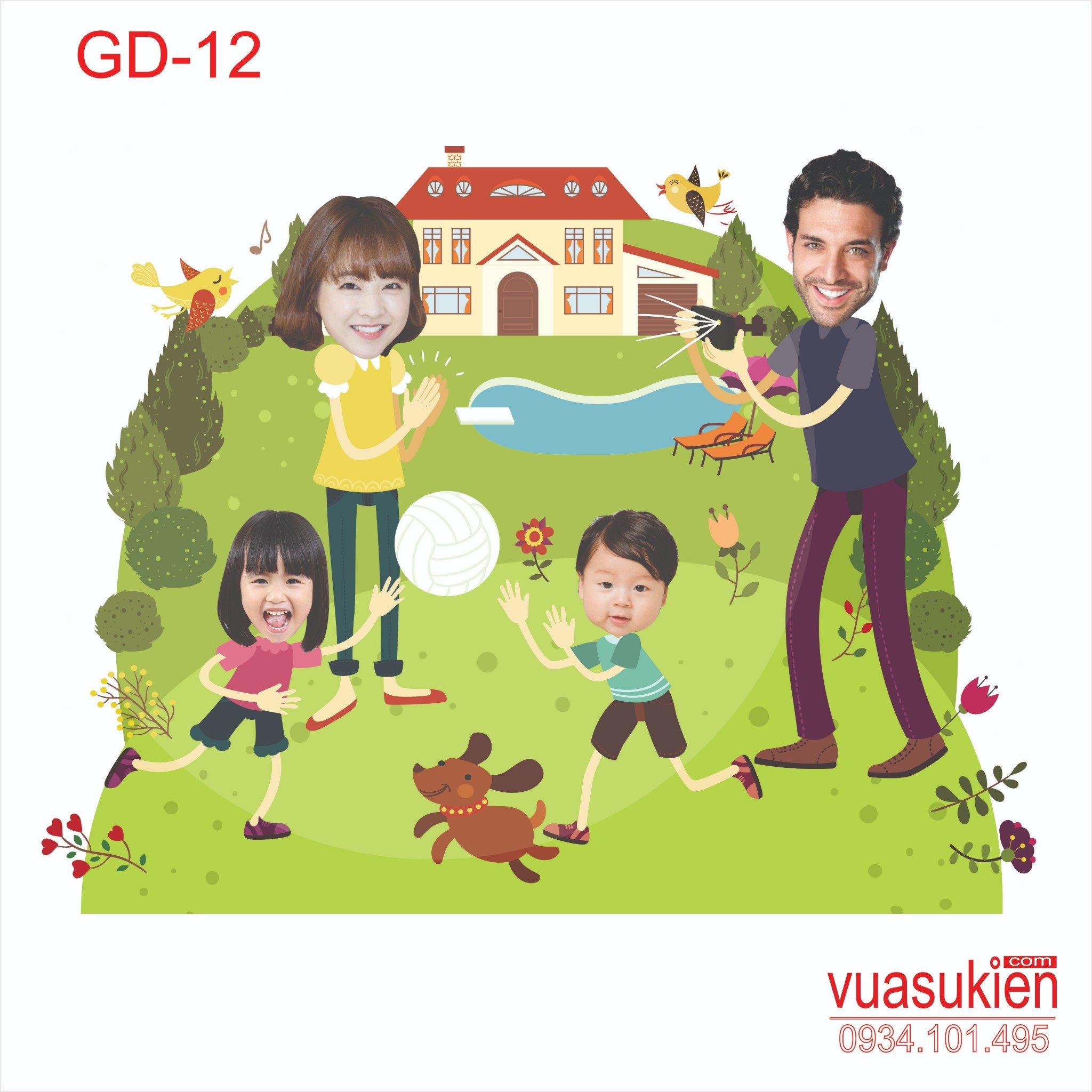 Hình Chibi Gia Đình GD-12