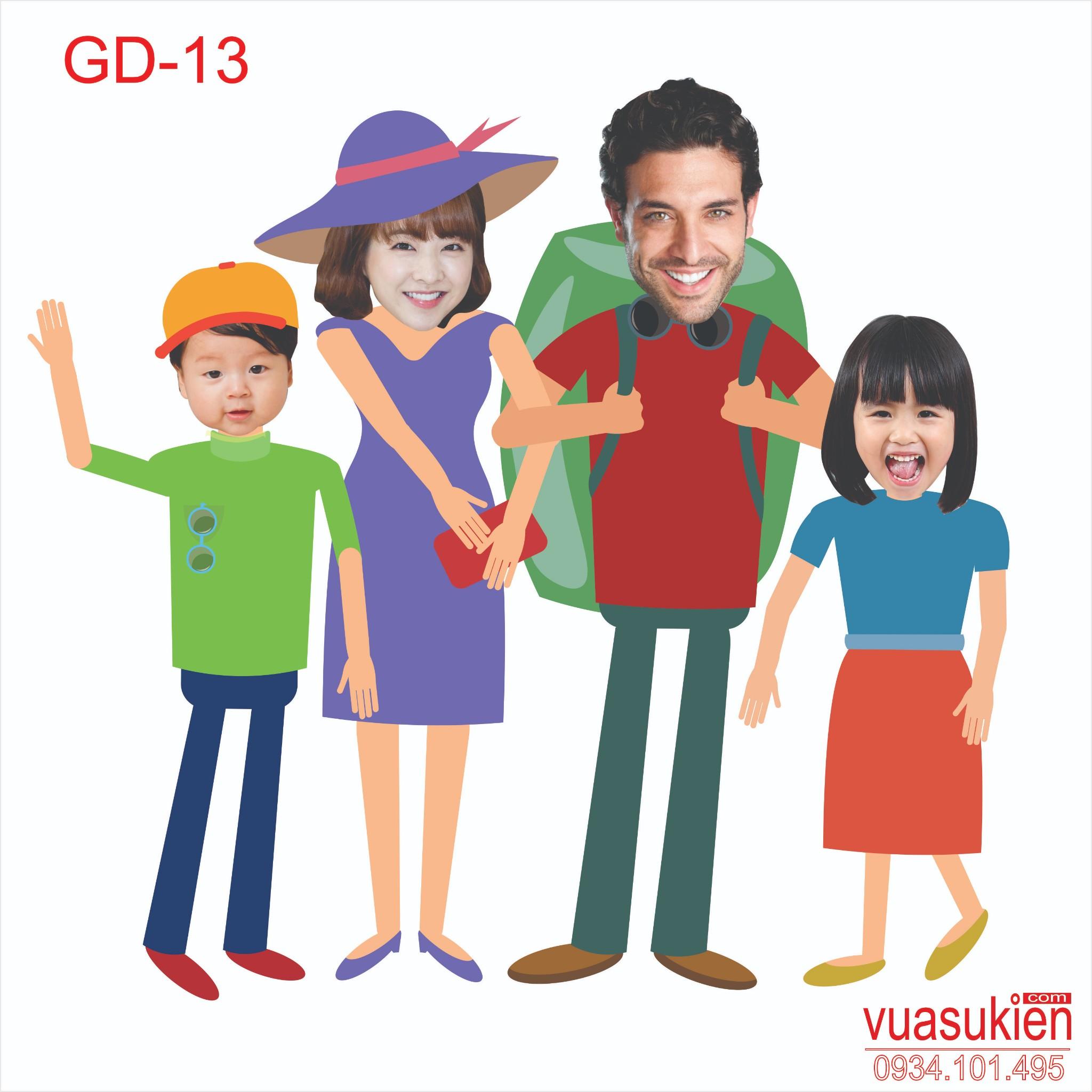 Hình Chibi Gia Đình GD-13
