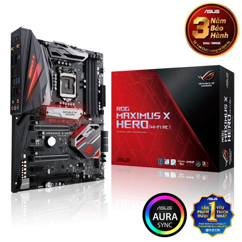 Mainboard Asus Maximus X Hero (Wifi Ac)