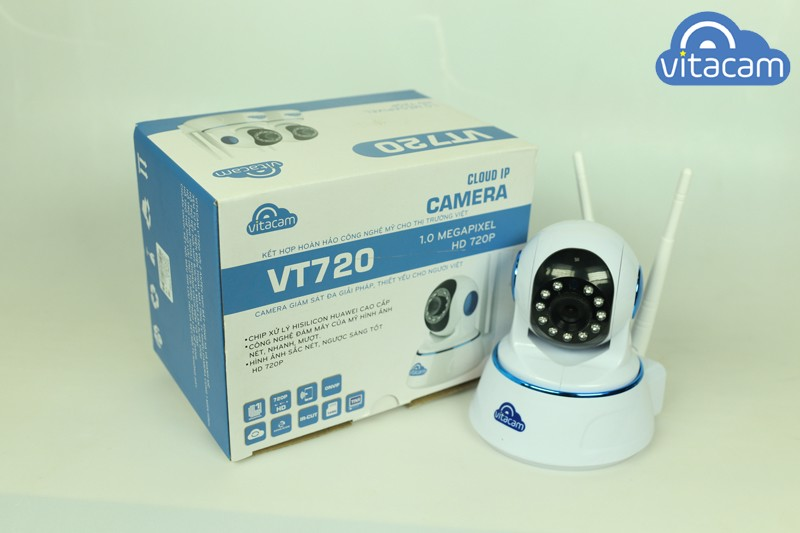 Camera Đám Mây IP 1.0Mpx 720P HD Vitacam VT720