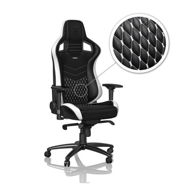 Ghế Gaming Noblechairs EPIC Real Leather Black/White/Red(Ultimate Chair Germany)